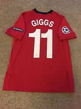 MANCHESTER UNITED HOME SHIRT 2009/10 ADULT MEDIUM (M) GIGGS 11 JERSEY
