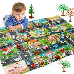 Kids Childrens Road Map Play Mat Race Car Rug Runner Pad Baby Kids Gifts