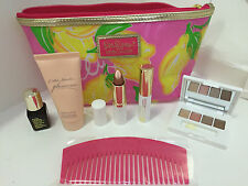 ESTEE LAUDER & LILLY PULITZER COSMETICS BAG W/ 7-PCS MOISTURIZER MAKEUP SET SALE