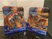 """Playmates Monsterverse Godzilla vs. Kong - Warbat, Mechagodzilla 6"""" - NEW"""