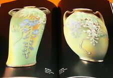 HAKURURI CORALENE Vase of Old Noritake book Japan vintage #0313