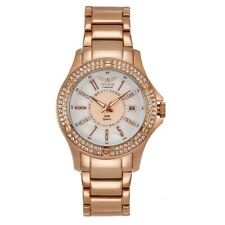 Aviator F Series Rose Gold Ladies Watch Crystal Bezel Interchangeable Straps