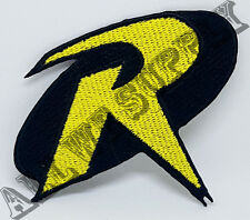 256 Batman & Robin Logo Crest Badge Iron/Sew On embroidered Fancy Dress Patch