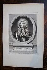 ABRAHAM DU QUESNE . PORTRAIT, GRAVURE ORIGINALE , 1760