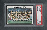 1973 TOPPS #500 OAKLAND A'S TEAM PSA 9.0 MINT++CENTERED!