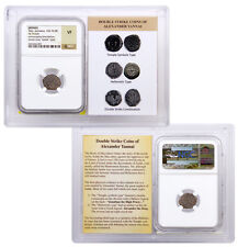 103-76 BC Widows Mite Bronze Prutah Double-Struck over Greek NGC VF SKU36515