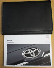 TOYOTA PROACE OWNERS MANUAL HANDBOOK WALLET 2013-2016 PACK 13012