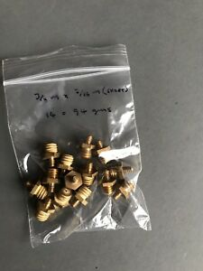 """BRASS TURNED AND THREADED 3/8"""" BSW MALE AND 3/16"""" BSW MALE [SHORT] (14 PER PACK)"""