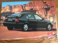 HONDA CIVIC 5 DOOR SALES BROCHURE 1995 / 1996 - NEW