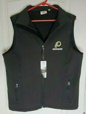 NFL Team Apparel Redskins Black Full zIp  Vest Fleece Backing S  NWT