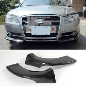 2xCarbon Front Splitters Flaps für Audi A4 B7 06-08 Ecken Spoiler Canard Turning