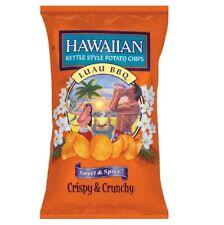 Hawaiian, Kettle Style Potato Chips Luau BBQ Sweet & Spicy 7.75 oz (3 Bags)