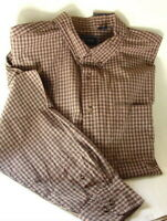 IZOD JEANS Olive Plaid Oxford Rock Washed Cotton Shirt Mens Size XXL 2XL NEW