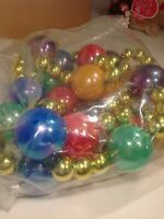Strand of Glitter Christmas LIGHTED Balls Garland Party Tree Hanging Ornaments