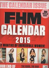 FHM MAGAZINE UK END OF THE YEAR ISSUE 2014, WITH 2015 FHM CALENDAR, NEW SEALED.