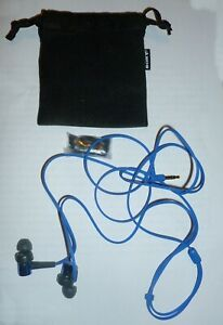 Sony MDR-XB50 extra bass blue earphones recently used