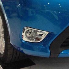 Chrome Front Fog Light Lamp Cover Trim For Toyota Vios Yaris 2013 2014 Sedan 4dr
