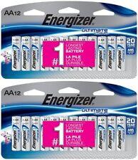 24 Energizer Ultimate AA L91 Lithium Batteries In Original Packaging Exp. 2037