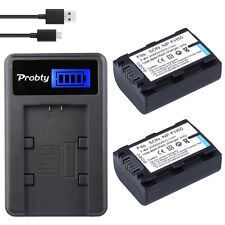 2x NP-FH50 FH50 Battery + LCD Charger For Sony A230 A330 A290 A380 A390 HDR-TG1E