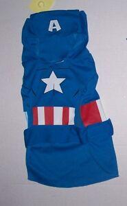 NWT Marvel Avengers Captain America Dog Costume Sz Medium Halloween Super Hero