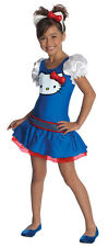 New Girls Hello Kitty Blue Dress Costume Size Large 12-14 for Child 8-10 yrs