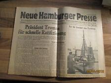 Neue Hamburger Presse #4 vom 30. Juni 1945 Militärregierung Besatzung Hamburg