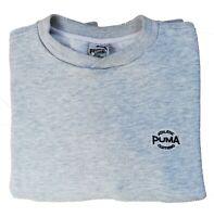 PUMA Sweatshirt Nice Men's Grey Sport T-Shirt Rayon Size M Long Sleeves Sweater