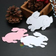Rabbit Metal Cutting Dies Stencil Scrapbooking Embossing Album Card DIY Craft