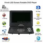 9 Inch Portable DVD Player Digital Multimedia U Drive Play & Card Reader FM Game