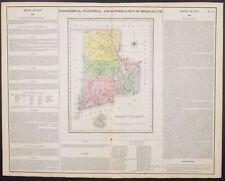 Carey & Lea - Rhode Island - 1822 FOLIO Geographical American Atlas