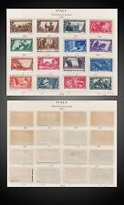 1932 - 1933 ITALY PAGE ALBUM MINT ISSUES COMPLETE MINT H , LH, NH SC. 290 - 314