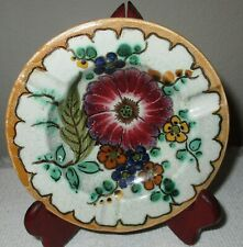 """VINTAGE ROYAL GOUDA ZUID HOLLAND Areo Pattern Multi-Color Floral Ashtray 5"""""""