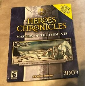 Heroes Chronicles Masters of the Elements PC CD-ROM Game NEW factory sealed
