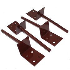 PACK OF 4 GARDEN SLEEPER SUPPORT BASES CONCRETE IN SUPPORTS FOR RAILWAY SLEEPERS