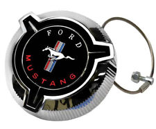 1967 Mustang Fuel Gas Cap Twist Off Chrome Plated w/ Cable Dynacorn - T80