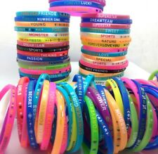 100pcs Colorful Silicone bracelets FOREVER wristbands Birthday Xmas Party Gift