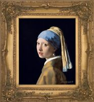 Old Master Art Girl with a Pearl Earring Vermeer Oil Painting Unframed 20x24 in