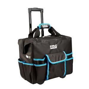 New Heavy duty mobile rolling tool bag on wheels with pockets / case / storage