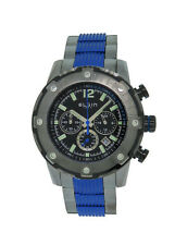 Elgin 1863 55601.3 Men's Round Blue Black Chronograph Date Stainless Steel Watch