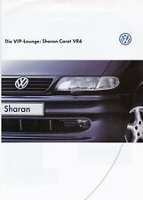 VW SHARAN CARAT VR6 Prospekt Brochure mit Ausstattungen Extras 23x31cm 36