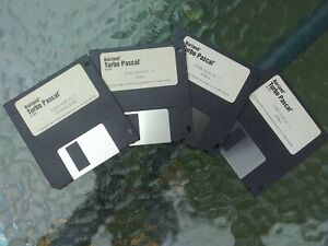 "1993 TURBO PASCAL 7.0 for DOS - Borland standard edition FOUR (4) 3.5"" DISKS"
