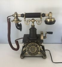 Black Vintage Telephone Rotary Plate Antique Handset Cord Old Retro Phone Parlor