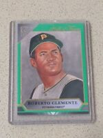 2020 Topps Gallery Green Hall Of Fame #HOFG-15 Roberto Clemente #/250