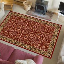Orientteppich Wolle Perser Teppich 100% Schurwolle Orientalisch Itamar Rot-Beige