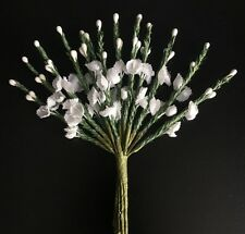 Flower Heather Bunch White, Doll House Miniature or Cake Decorating Accessory