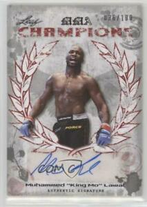 2010 Leaf MMA Champions Red /100 Muhammed King Mo Lawal #CH-ML1 Auto