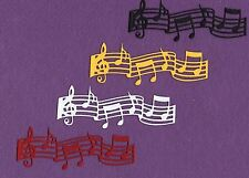MUSIC NOTES 5 die cuts scrapbook cards