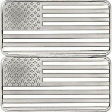 SilverTowne American Flag 10oz .999 Silver Bar 2pc