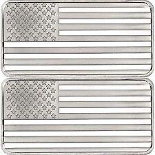SilverTowne American Flag 10oz .999 Silver Bar 2pc
