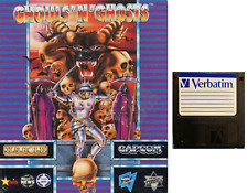 """GHOULS AND GHOSTS : floppy disc 3,5"""" Commodore Amiga backup game disk (READ)"""